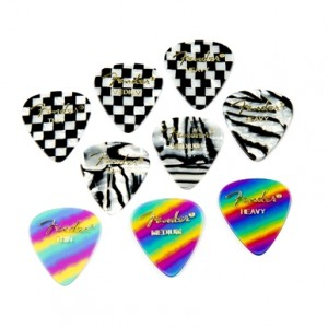 Fender 351 Shape Graphic Picks (12 per pack)
