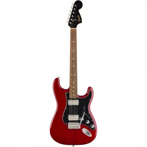 Fender 0147903538 Limited Edition Mahogany Blacktop Stratocaster HH Crimson Red Transparent