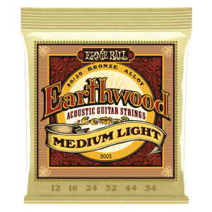 Ernie Ball Earthwood Medium Light 80/20 Bronze Acoustic Guitar Strings - 12-54 Gauge