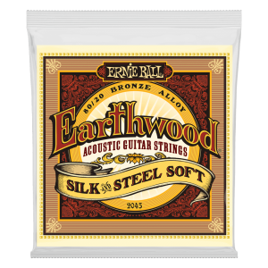 Ernie Ball Earthwood Silk & Steel Soft 80/20 Bronze Acoustic Guitar Strings - 11-52 Gauge
