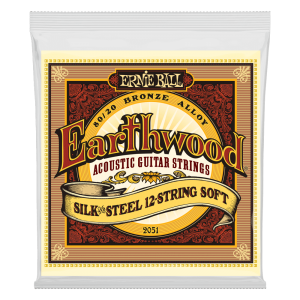 Ernie Ball Earthwood Silk & Steel Soft 12-String 80/20 Bronze Acoustic Guitar Strings - 9-46 Gauge
