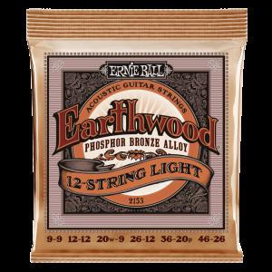 Ernie Ball Earthwood 12-String Light Phosphor Bronze Acoustic Guitar Strings - 9-46 Gauge