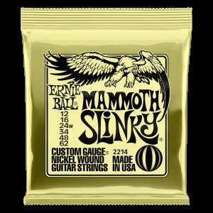Ernie Ball Mammoth Slinky Nickel Wound Electric Guitar Strings - 12-62 (wound G) Gauge