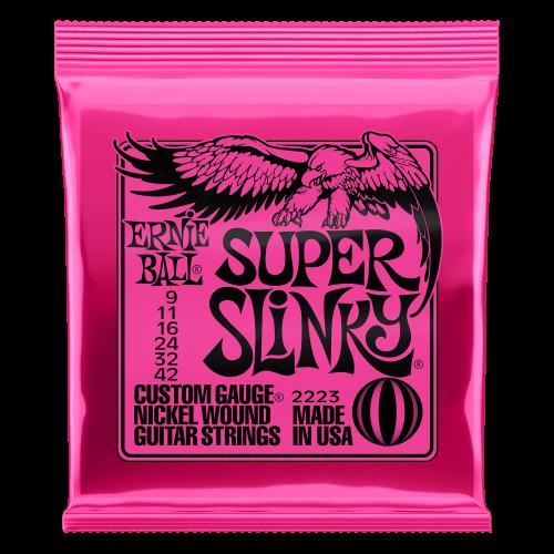 Ernie Ball - P02223 Super Slinky Nickel Wound Electric Guitar Strings - 9-42 Gauge