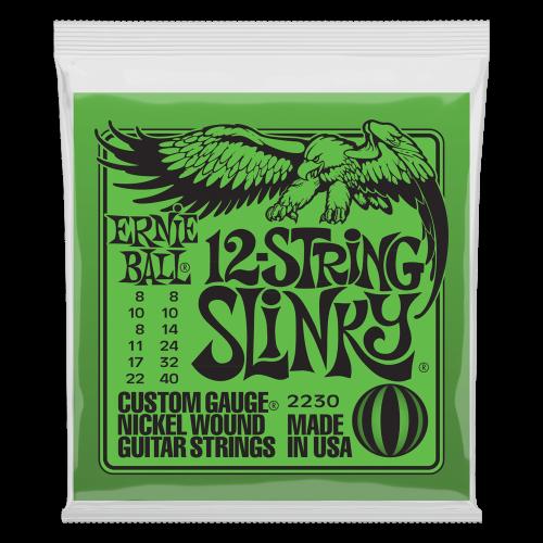 Ernie Ball - P02230 Slinky 12-String Nickel Wound Electric Guitar Strings - 8-40 Gauge