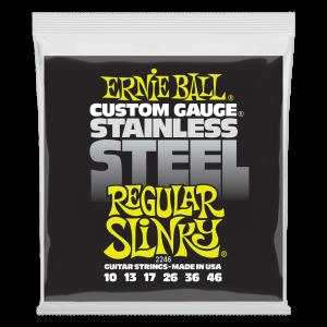 Ernie Ball Regular Slinky Stainless Steel Wound Electric Guitar Strings - 10-46 Gauge