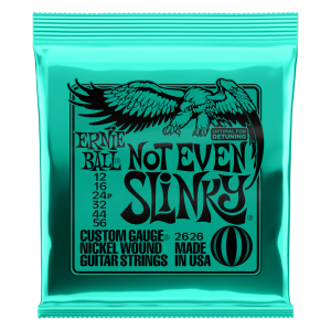 Ernie Ball Not Even Slinky Nickel Wound Electric Guitar Strings - 12-56 Gauge