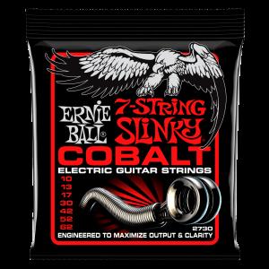 Ernie Ball Skinny Top Heavy Bottom Slinky Cobalt 7-String Electric Guitar Strings - 10-62 Gauge