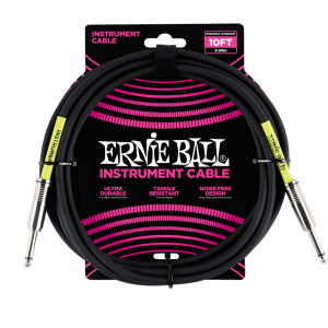 Ernie Ball 10' Straight / Straight Instrument Cable - Black