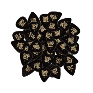 Ernie Ball Thin Black Cellulose Picks, bag of 144