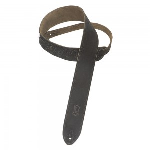 """Levy's 2"""" Suede Guitar Strap With Suede Backing"""