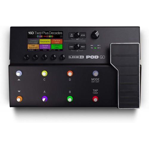 Line 6 POD Go Guitar Multi-Effects Pedal, Black