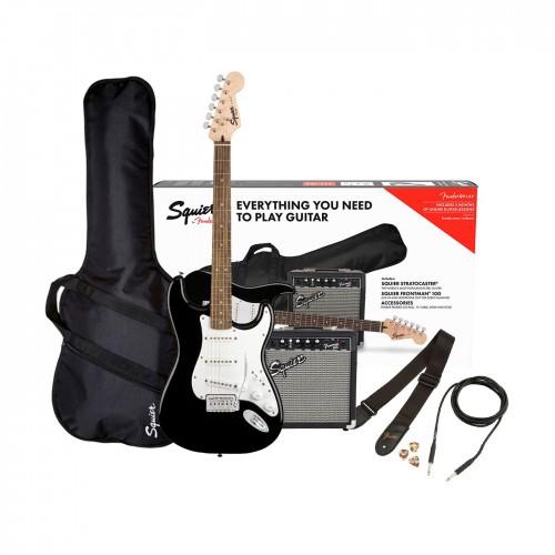 Fender Squier Stratocaster 10G 230V pack in black