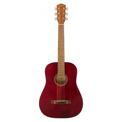 Fender FA-15 3/4 Scale Steel String Acoustic Guitar with Gig Bag (Red)
