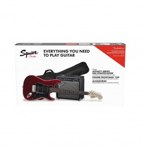 Fender Affinity Series Stratocaster HSS Electric Guitar Pack, Candy Apple Red