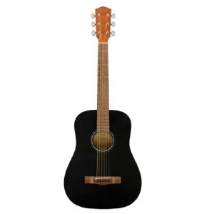 Fender FA-15 3/4 Scale Steel String Acoustic Guitar with Gig Bag (Black)