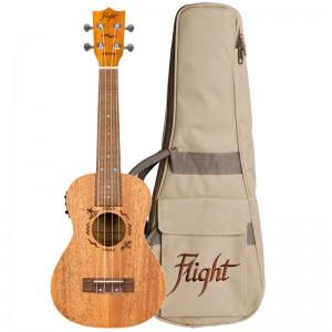 Flight DUC323 EQ Mahogany Electro-Acoustic Concert Ukulele