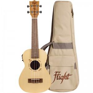 Flight DUC525 EQ SP/ZEB Electro-Acoustic Concert Ukulele