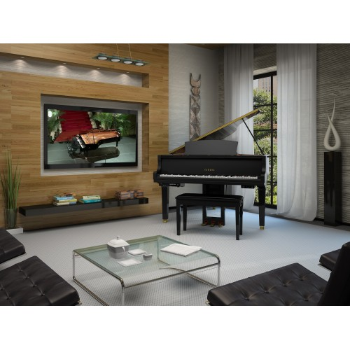 Yamaha DGC1 Enst Disklavier Enspire St Grand Piano - Polished Ebony
