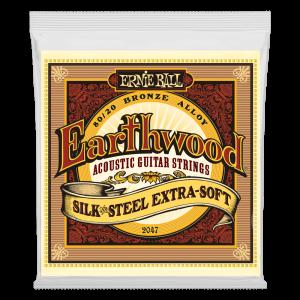 Earthwood Silk & Steel Extra Soft 80/20 Bronze Acoustic Guitar Strings - 10-50 Gauge