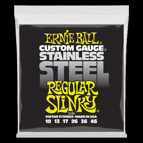 Regular Slinky Stainless Steel Wound Electric Guitar Strings - 10-46 Gauge - P02246