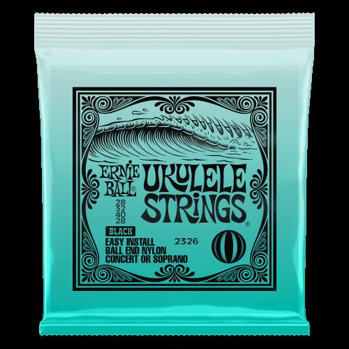 Ernie Ball Concert/Soprano Nylon Ball-End Ukulele Strings - Black - P02326