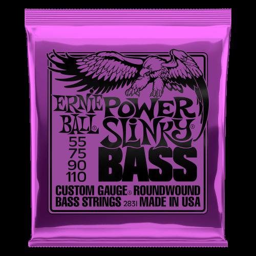 Ernie Ball Power Slinky Nickel Wound Electric Bass Strings - 55-110 Gauge - P02831