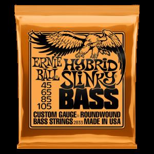 Ernie Ball Hybrid Slinky Nickel Wound Electric Bass Strings - 45-105 Gauge - P02833