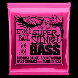Ernie Ball Super Slinky Nickel Wound Electric Bass Strings - 45-100 Gauge - P02834