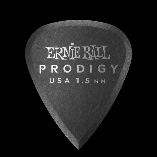 Ernie Ball 1.5mm Black Standard Prodigy Picks 6-pack - P09199