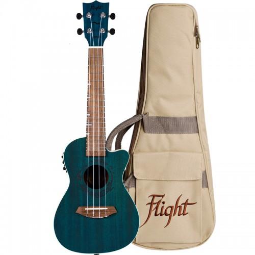 Flight DUC380 CEQ Topaz Electro-Acoustic Concert Ukulele