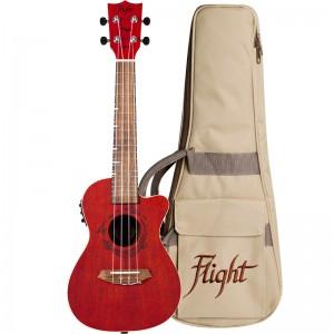 Flight DUC380 CEQ Coral Electro-Acoustic Concert Ukulele