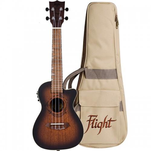 Flight DUC380 CEQ Amber Electro-Acoustic Concert Ukulele