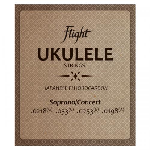 Flight FUSSC100 Fluorocarbon Ukulele Strings – Soprano/Concert