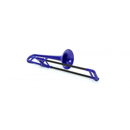 PBONE MINI PLASTIC TROMBONE BLUE