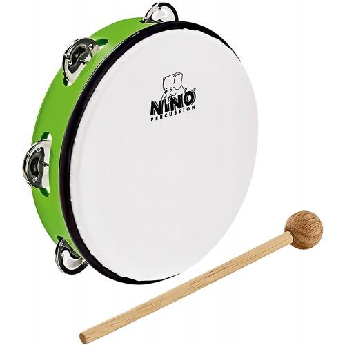 "NINO® Percussion 8"" ABS Tambourine, Grass-Green - NINO51GG"