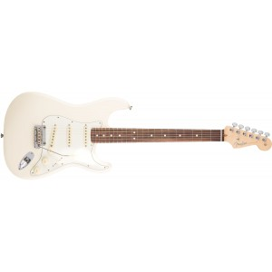 Fender 0113010705 American Professional Stratocaster Rosewood Fingerboard Electric Guitar - Olympic White