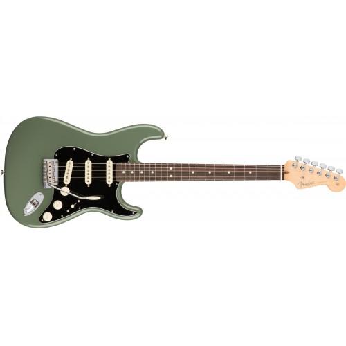 Fender 0113010776 American Professional Stratocaster Rosewood Fingerboard Electric Guitar - Antique Olive