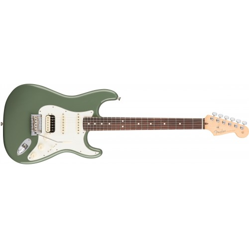 Fender 0113040776 American Professional Stratocaster HSS Shawbucker Rosewood Fingerboard Electric Guitar - Antique Olive