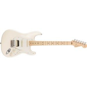 Fender 0113042705 American Professional HSS Shawbucker Stratocaster Maple Fingerboard Electric Guitar - Olympic White