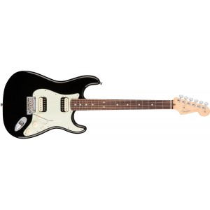 Fender 0113050706 American Professional Stratocaster HH Shawbucker Rosewood Fingerboard Electric Guitar - Black