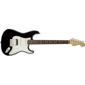 Fender 0113110706 American Standard Stratocaster HSS Shawbucker Rosewood Fingerboard Electric Guitar - Black