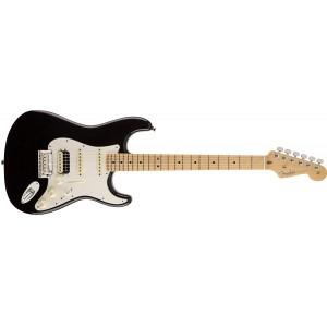 Fender 0113112706 American Standard Stratocaster HSS Shawbucker Maple Fingerboard Electric Guitar - Black
