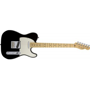 Fender 0113202706 American Standard Telecaster Maple Fingerboard Electric Guitar - Black
