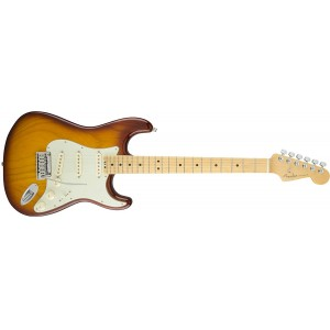 Fender 0114002752 American Elite Stratocaster Maple Fingerboard Electric Guitar - Tobacco Sunburst