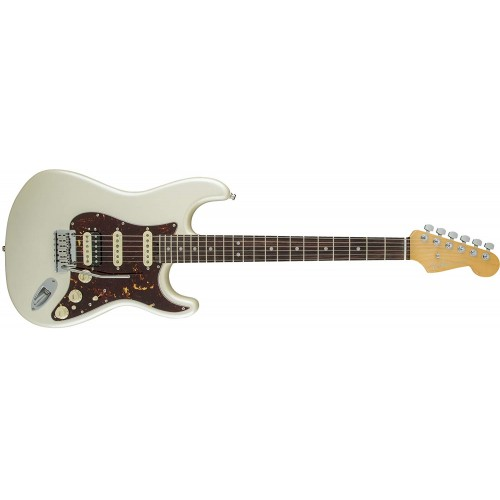 Fender 0114110723 American Elite Stratocaster HSS Shawbucker Rosewood Fingerboard Electric Guitar - Olympic Pearl