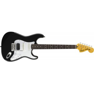Fender Squier 301215506 Vintage Modified Stratocaster Electric Guitar HSS - Black - Rosewood Fingerboard