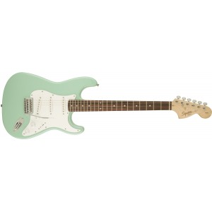 Fender 0310600557 Squier Affinity Stratocaster 6 Strings Rosewood Fretboard Electric Guitar - Surf Green