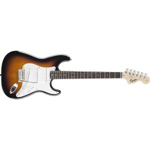 Fender Squier 310600532 Affinity Series Stratocaster Rosewood Fingerboard 6 String Electric Guitar - Brown Sunburst
