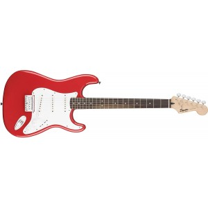 Fender Squier 311001540 6 String Bullet Stratocaster Electric Guitar Hard Tail Rosewood Fingerboard-Fiesta Red
